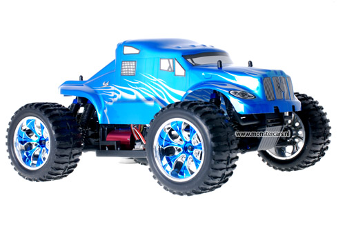 Himoto Brushless American Truck Blue Metal 2.4GHz AANBIEDING!